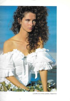 Laura Ashley Bridal Collection ca. 1983 - 84  This was the dress I wanted.  I tried it on about fifty times.