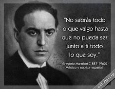 Gregorio Marañón, médico y escritor español.