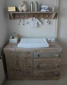 commode steigerhout | steigerhouten babykamer meubelen | pinterest, Deco ideeën