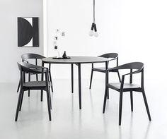 Pięknie zaprojektowany, nowoczesny stół do jadalni z kolekcji Mito.