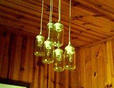 Brisbane Made! Industrial, rustic chandelier: https://www.etsy.com/listing/232900718/pint-jar-chandelier-pendant-light