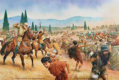 Персы атакуют греческий обоз в битве при Платеях