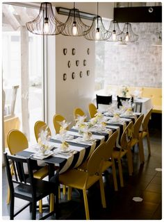 Adorable black and yellow bridal shower. Photo by L Marie Photography. www.wedsociety.com #bridal #shower #ideas