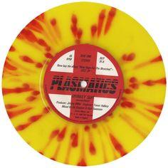 """Plasmatics splatter vinyl for the """"Monkey Suit"""" seven"""
