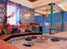 Марроканский стиль интерьера, марроканский дизайн интерьера, восточный интерьер   Мусульманский дизайн
