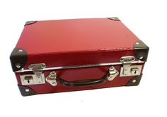 This super cute vintage style Red School Case was the type carried to school by thousands of children growing up in the early to mid 1900's, even up until the early 1970's! I remember having this kind of school port....it always smelt of what ever I had for lunch, when I opened it. lol