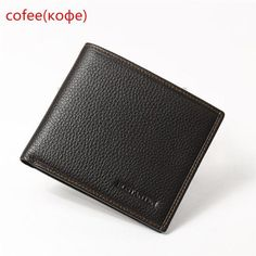 d137679aedc Bostanten 100% Genuine Leather Fashion Designer Brand Leather Wallet Coffee  Leather Money Men Wallet Card Holder Male Coin Purse