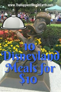 10 Disneyland Meals for $10, dining options for staying on budget at Disneyland.