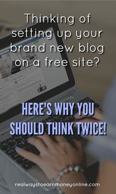 Thinking of starting a blog on a free site? Think twice before you do it! Make Money Blogging, Way To Make Money, Earn Money, Free Blog Sites, Blog Love, Blogging For Beginners, News Blog, Social Media Tips, Making Ideas