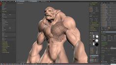 雕刻流程-The Beast- Dyntopo, Retopo and Sculpt in Blender 1/4