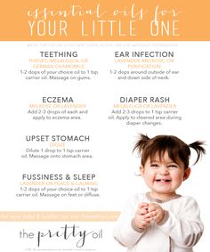Guide to essential oils for your baby/toddler- www. for more oil info by annabelle Essential Oils For Teething, Essential Oils For Babies, Doterra Oils, Doterra Essential Oils, Young Living Essential Oils, Essential Oil Blends, Essential Oils For Pregnancy, Yl Oils, Young Living Oils