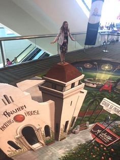 """Visit Anaheim partnered with 3-D pavement artist Joe Hill to create interactive illustrations. Created with chalk and paint, the installations represented aspects of Anaheim, including Orange County beaches, city landmarks, and theme parks. Guests were encouraged to pose """"inside"""" the artwork and share photos on social media."""