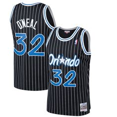 3cfe07e22e2 Men's Orlando Magic Shaquille O'Neal Mitchell & Ness Black 1994-95 Hardwood  Classics Swingman Jersey