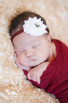 Darling Newborn-Girl Pic  -love the red & cream