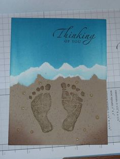 Footprints in the sand by Muse - Cards and Paper Crafts at Splitcoaststampers