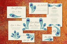 PRINTABLE ROYAL PEACOCK Invitation Suite by TheIndianPaperForest, $109.75