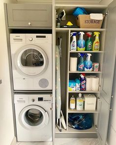 120 brilliant laundry room ideas for small spaces – practical & efficient -pag. 120 brilliant laundry room ideas for small spaces – practical & efficient -pag… Laundry Room Layouts, Laundry Room Remodel, Small Laundry Rooms, Small Rooms, Laundry Room Ideas Stacked, Kitchen Ideas For Small Spaces, Compact Laundry, Utility Room Storage, Laundry Room Organization