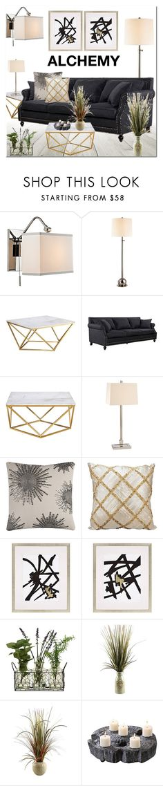 Alchemy by lampsplus on Polyvore featuring interior, interiors, interior design, home, home decor, interior decorating, Hudson Valley Lighting and Kathy Ireland