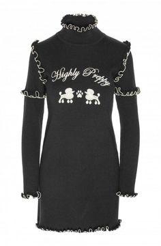 ¿Te gusta este  vestido con  volantillos  negro de  HighlyPreppy  b50e89c592fbf