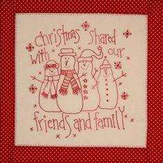 Happiness is Cross Stitching : Free Christmas Stitchery patterns