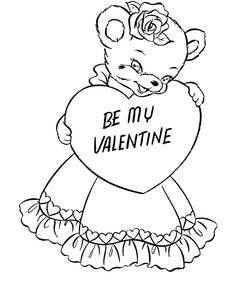 Find This Pin And More On Coloring 4 Valentines Day Cards Pages