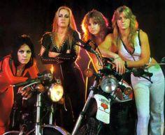 Joan Jett, Lita Ford, Vicki Blue and Sandy West.