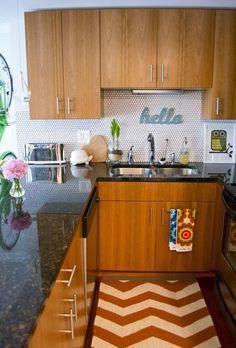 kitchen - backsplash of small octagonal tiles - love it!  5036c342e266b90c7b00032c._w.540_