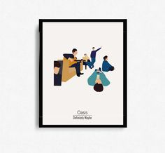 This is a Print of Oasis album cover for Definitely Maybe in a new, minimalist design. This lovingly created design would be a perfect gift for that special someone. Colours may differ depending on your monitor. Print available in: 11 x 14 inches Perfect for any good, solid frame. Design printed on 200gsm satin pearl premium paper on a professional art printer. PLEASE NOTE: the frame is not included. All prints are sent in postal tubes to ensure no damage occurs during delivery. We aim ...