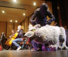 """A puppeteer brings the wolf to life as high school musicians perform Sergei Prokofiev's """"Peter and the Wolf"""" for an audience of rapt children and their parents. The Davis High School Symphony Orchestra and the Puppet Art Theatre Company will team up for a performance at 1 p.m. Saturday at DHS. Courtesy photo"""