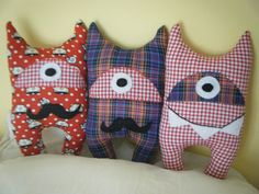 Monsters   handmade monsters (softie, stuffie).