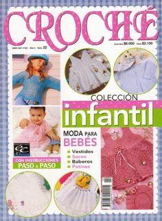 Revista colección infantil de crochet, con instrucciones paso a paso, vestidos de niña, sacos, baberos, patucos y mucho mas. Patrones totalmente gratis en español.