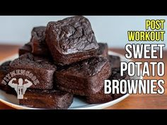 ▶ Post-Workout Sweet Potato Brownies for Meal Prep / Brownies de Batata - YouTube
