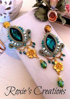 Fancy Earrings, Jewelry Design Earrings, Soutache Earrings, Fashion Earrings, Indian Jewellery Design, Indian Jewelry, Handmade Wire Jewelry, Earring Tutorial, Jewelry Making Tutorials
