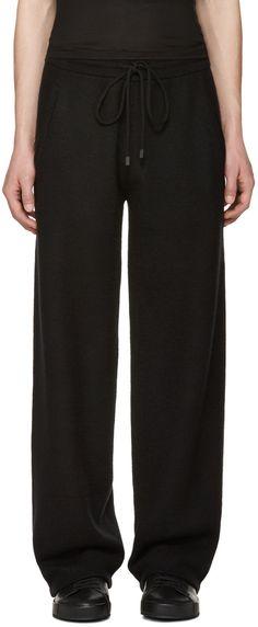 Calvin Klein Collection - Pantalon de survêtement en cachemire noir Redel