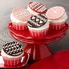 Lace Look Candy Topped Cupcakes