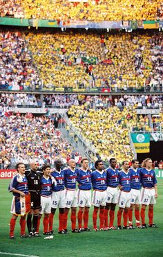 World Cup final, 1998:  Deschamps, Barthez, Lizarazu, Thuram, Leboeuf, Guivarch, Karembeu, Desailly, Djorkaeff, Zidane, Petit.
