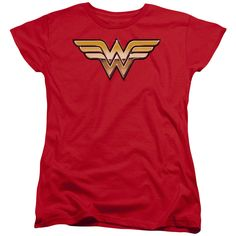 Wonder Woman Golden Red Womens T-Shirt
