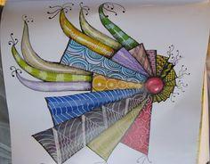 colorful tangle #doodle #tangle