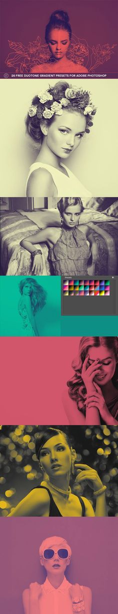 26 Free #Duotone Gradient Presets for Adobe Photoshop users is our new gradient collection presets which contains vibrant and unique colour combinations. via @creativetacos