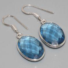 Blauwe Topaas oorbellen