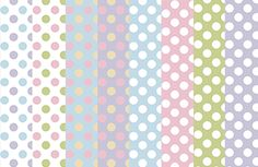 This lovely set of digital scrapbook paper comes with 8 papers, each polka dotted with a pastel color theme. 8 Papers 12 x 12 inches 300 dpi .png format Free for personal and commercial use. By dow...