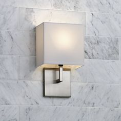 """George Kovacs Nickel Fabric Shade 11 1/2"""" High Wall Sconce - #91467 