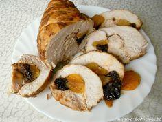 Świąteczny indyk pieczony ze śliwkami suszonymi i morelami Poultry, Camembert Cheese, French Toast, Dairy, Cooking Recipes, Breakfast, Food, Projects, Christmas
