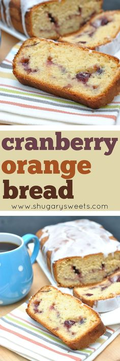 Sweet Cranberry Orange Bread is the perfect breakfast for you and your family. Grab a slice with your morning coffee, or serve it with a cup of milk!