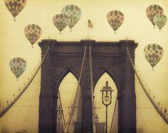 "Gorgeous! ""balloons Over The Bridge"" - Fine Art Print"