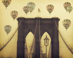 "Gorgeous! ""balloons Over The Bridge"" - Fine Art Print"