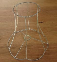 Vintage lampshade frames fancy shape bare wire shades rustic small things simple pleasures how to recover a lampshade tutorial greentooth Image collections