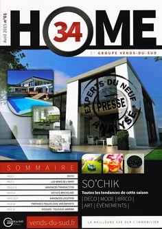 #immobilier 1er n° de HOME 34 par le groupe VENTS-DU-SUD, beaucoup plus qu'un magazine d'annonces sur #Béziers et région