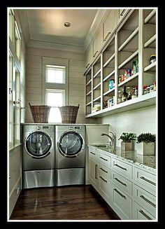this is it! - pantry and laundry room combined | Pantry Door Madness… | Inspirational Details