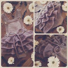 Ravelry: Lille Sukkerspinn pattern by Mari Johansen Baby Knitting, Crochet Baby, Knit Crochet, Knit Baby Dress, Burlap Wreath, Baby Love, Embroidery Patterns, Ravelry, Ruffle Blouse